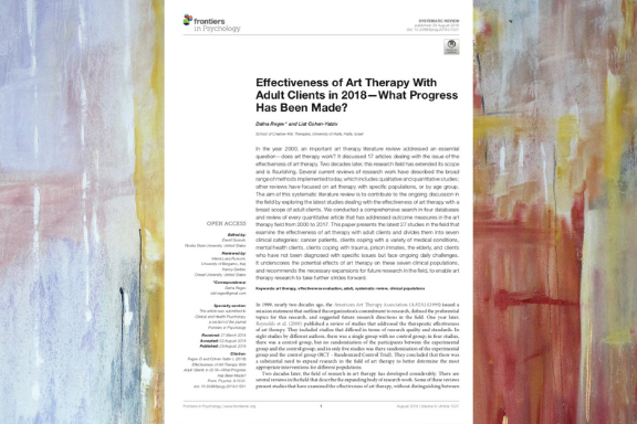 Selection of Arts Therapy Journal Articles – The Red Pencil